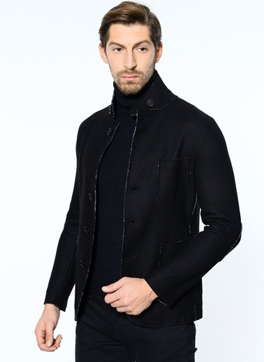 Daffari Slim Fit Yün Blazer Ceket Siyah